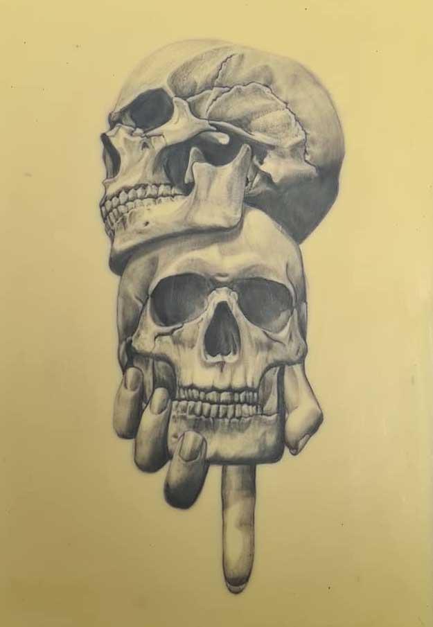 Skull-hand-tattoo