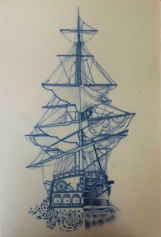 straight-boat-line-tattoo